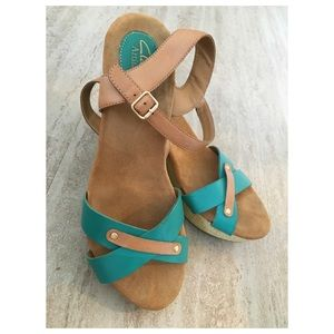 Clarks Turquoise Wedges